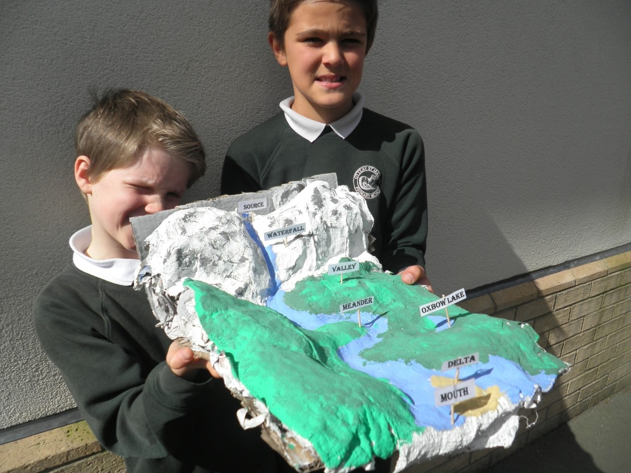 River Models - Ottery St Mary Primary School