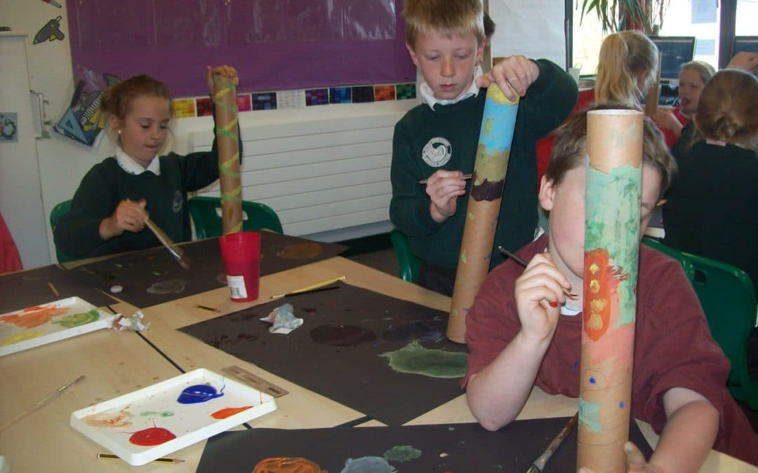 Year 3 have been making rain sticks …