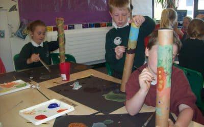Year 3 have been making rain sticks …