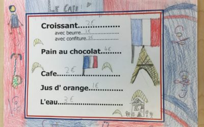 French Café in Year 3.